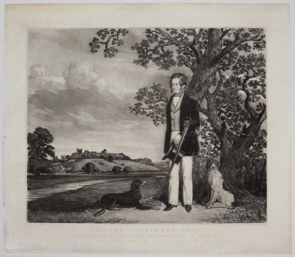 Frederic Trimmer, Esq.re In the Landscape, Tutbury Castle, Staffordshire, with the River Dove.