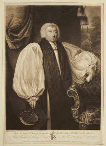 The Rt. Rev.d W.m Lort Mansel, D.D. Lord Bishop of Bristol.