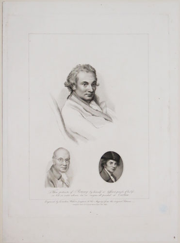 Three portraits of Romney by himself at different periods of his life, in Oil, in water colours and in crayons, all painted at Eartham.
