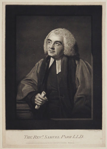 The Revd. Samuel Parr L.L.D.