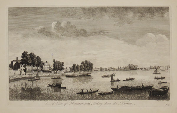 A View of Hammersmith, looking down the Thames.