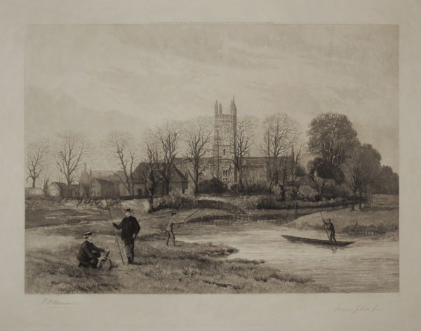 [Winchester College. The College and Chapel from the Water Meads]