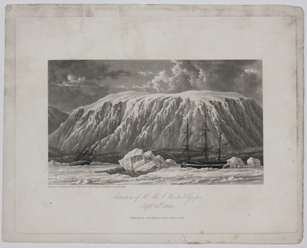 Situation of H.M.S. Hecla & Griper. Sept.r 20.th 1819.
