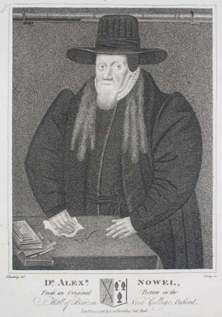 Dr. Alexr. Nowel, From an Original Picture in the Hall of Brazen Nose College, Oxford.