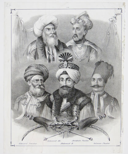 [Commanders during the Greek War of Independence.] Khosref Pascha. Mehemet Ali. Mahmud II. Ibrahim Pasha. Soliman Pascha.