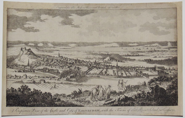 Perspective View of the Castle and City of Edinburgh, with the Towns of Leith, Burnt Island & Kinghorn.