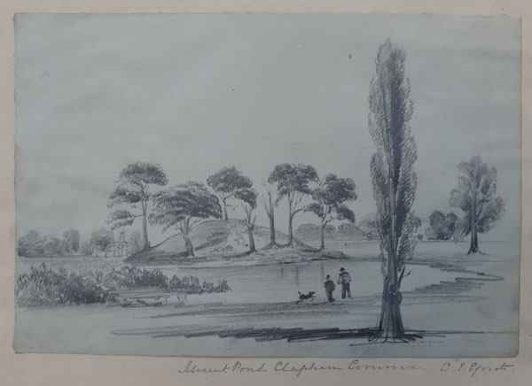 Mount Pond Clapham Common [in pen underneath image.]