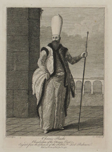 Chiaus Bashi. Chamberlain of the Ottoman Court.