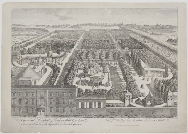 A General Prospect of Vaux Hall Gardens. Shewing at one View the disposition of the whole Gardens.