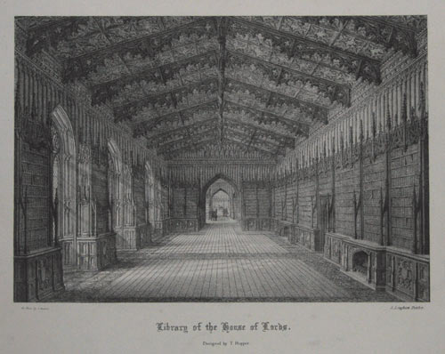 Library of the House of Lords. Designed by T. Hopper.