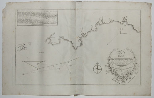 A Plan of the Situation and remarkable Manuvers of the English, and the Combined Fleets of France & Spain, during their stay in the Channel, from Aug.st 29th, 1779, (the day the were first discover'd)
