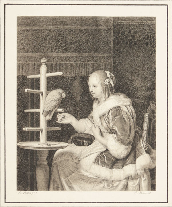 [Woman with a Parrot.]