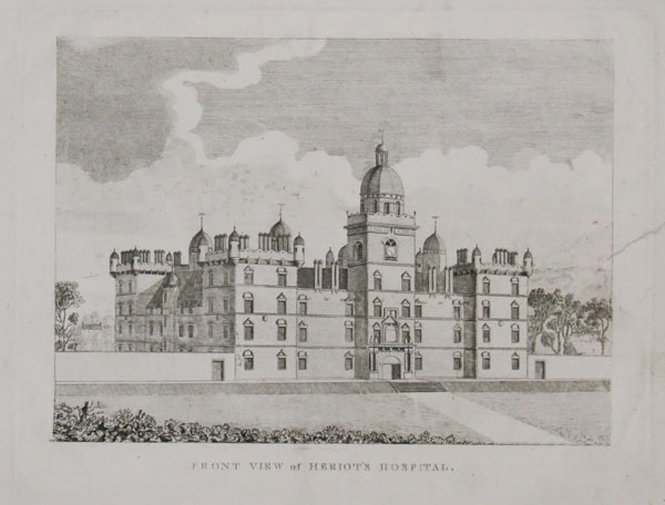 Front View of Heriot's Hospital.