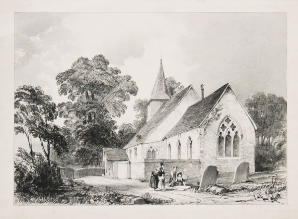 Sandersteard Church Surry [pencil to lower left.]