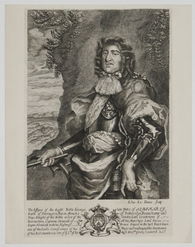 The Effiges of the Right Noble George, late Duke of Albemarle, Earle of Torrington [...]