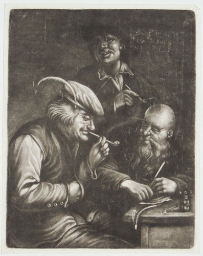 [Three Smokers.]