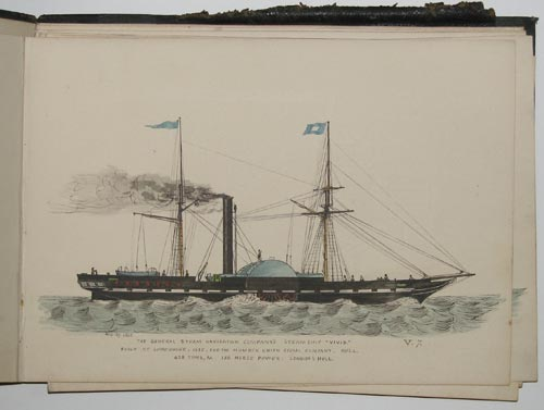 [Album of 25 sketches of paddle steamers.]