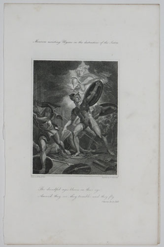 Minerva assisting Ulysses in the destruction of the Suitors.
