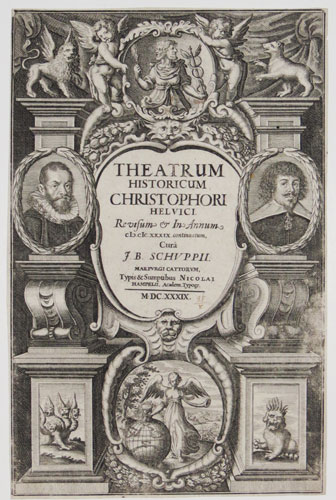 [Frontispiece to 'The Historical and Chronological Theatre' by Christopher Helvicus]