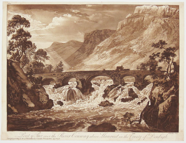 No. 12. Pont y Pair over the River Conway above Llanrwst in the County of Denbigh.