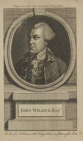 John Wilkes, Esqr. Engraved for the Universal Magazine.