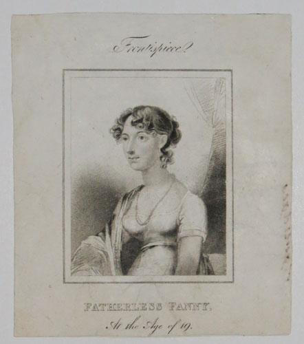 Frontispiece. Fatherless Fanny, At the Age of 19.