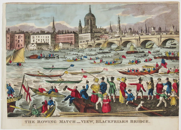 The Rowing Match_ View, Blackfriars Bridge