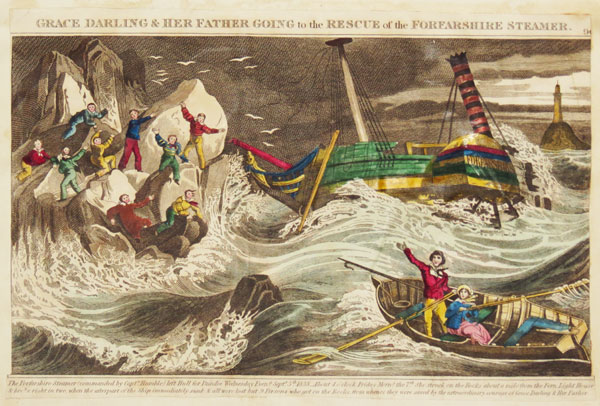 Grace Darling & Her Father Going to the Rescue of the Forfarshire Steamer.