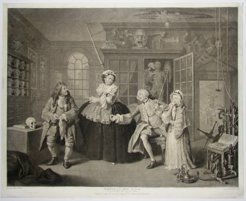 Marriage a la Mode. Plate III. Engraved from the Original Picture. Size of the Picture 3ft by 2ft 4in.