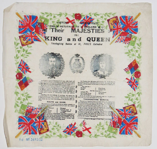 Souvenir to Commemorate the Return to England of Their Majesties The King and Queen.
