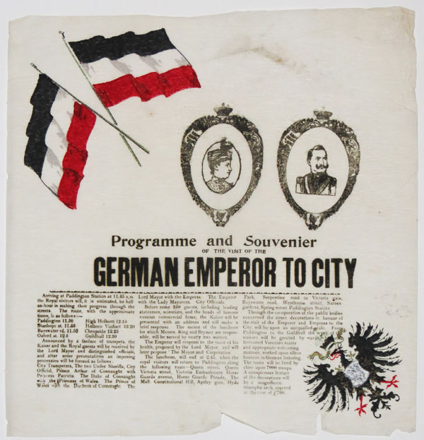 Programme & Souvenier of the Visit of the German Emperor to City,