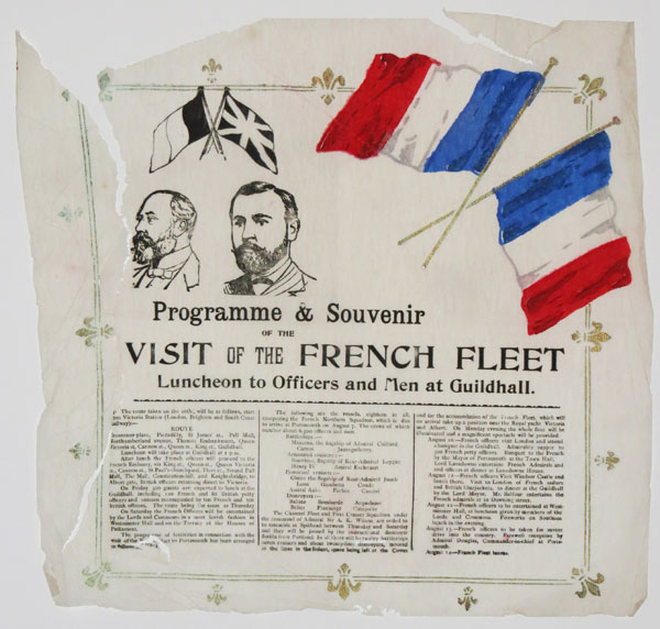 Programme & Souvenir of the Visit of the French Fleet.