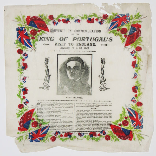 Souvenir in Commemoration of the King of Portugal's Visit to England. November 15 to 20, 1909.