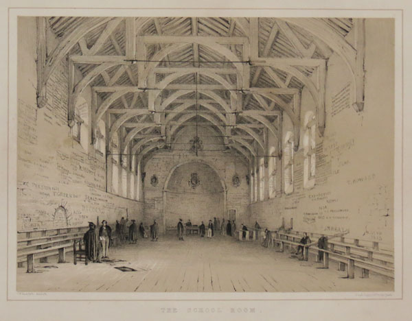 [Westminster School.] The School Room.