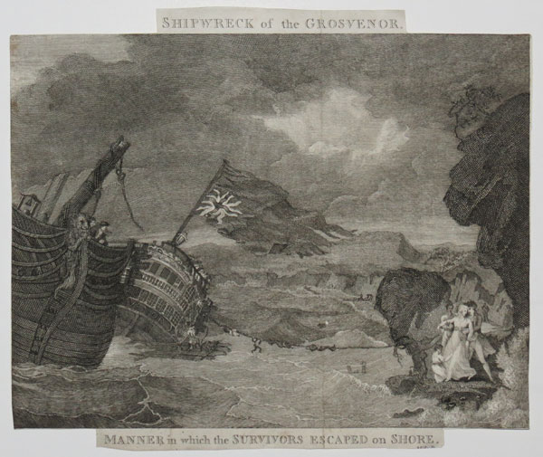 Shipwreck of the Grosvenor.