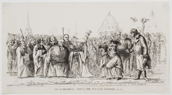 The Oldenburg Procession Through Oxford. May 1814.