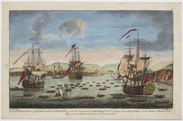 An exact Representation of the Attack made by the British Fleet, under the Command of Adm.l Keppel the 8th of April, 1761, at Port Andre, on the Island of Belle Isle.  9.