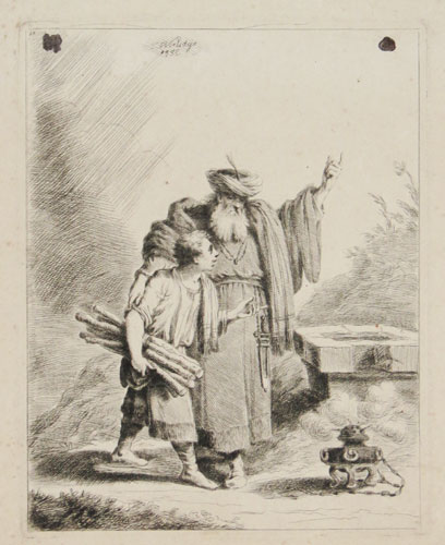[Abraham offering up his son Isaac]