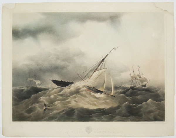 "To J. H. P. J. Pigott Esq.re. this print of his Cutter Yacht ""Ganymede"", R.Y.S. is respectfully dedicated by his obedient servant Edmund Fry."