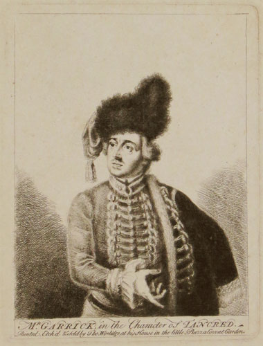 Mr Garrick in the Character of Tancred.
