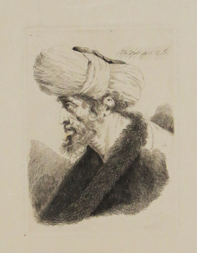 [Study of a Turk in profile.]