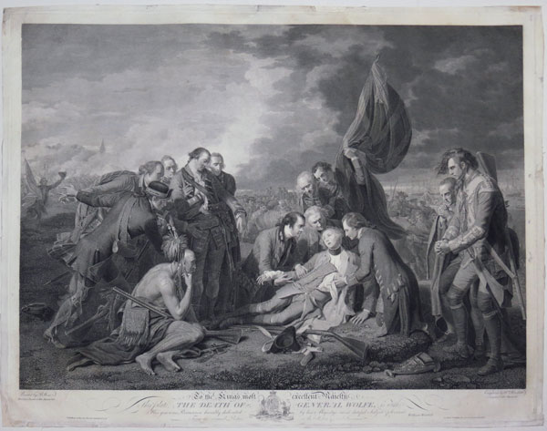 To the King's most excellent Majesty, This plate, The Death of General Wolfe,