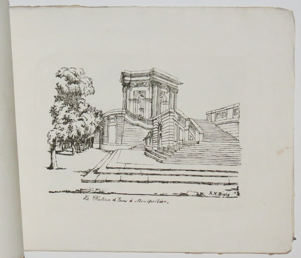 [Untitled folio of eleven lithographic sketches of French architecture, each signed K.H. Digby.]