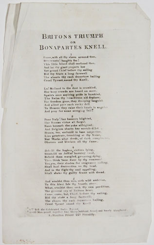 [Broadside against Napoleon]