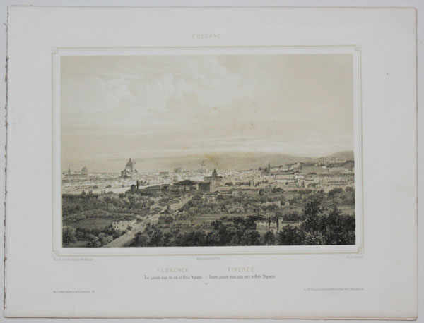 Toscane. [A set of eight views in Florence].