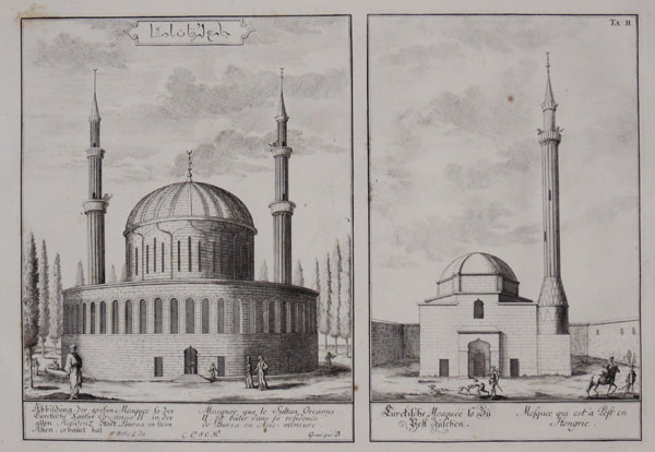 [Mosque of Sultan Orcanus II in Bursa, Turkey and in Pest, Hungary]