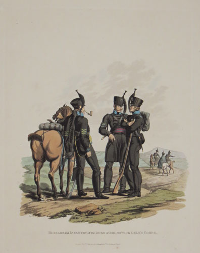 Hussars and Infantry of the Duke of Brunswick Oels's Corps.