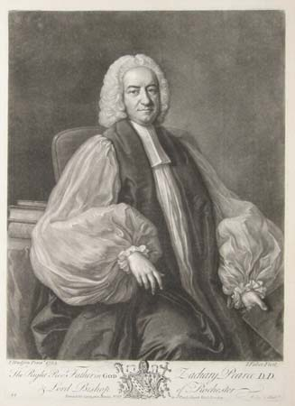 The Right Revd. Father in GOD Zachary Pearce D.D. & Lord Bishop of Rochester.