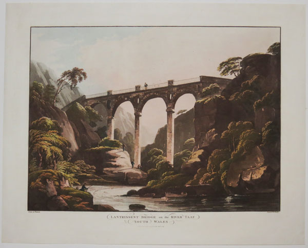 Lantrissent Bridge on the River Taaf. South Wales.