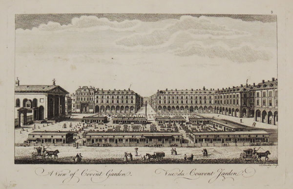 A View of Covent Garden / Vue de Couvent Jarden